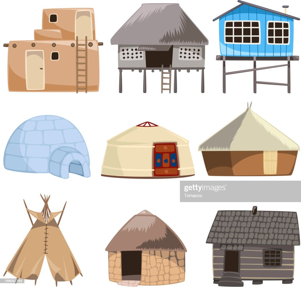 Traditional building house igloo hut cabinet cabin tent for Traditional house building
