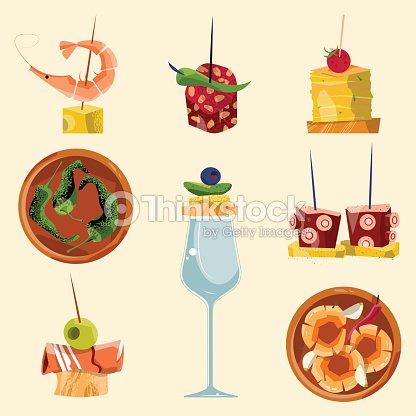 Traditionelle Spanische Küche Auswahl An Tapas Vektorgrafik | Thinkstock