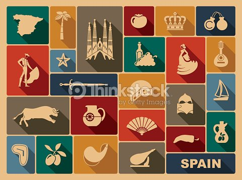Traditional Symbols Of Spain Vector Art Thinkstock