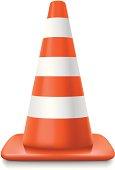 Traffic cone. Gradient mesh used. No transparencies used.
