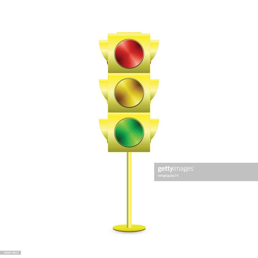 Luz de tráfego : Arte vetorial