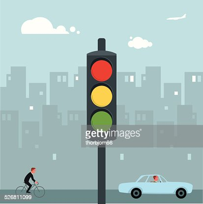 Traffic lights : Vector Art