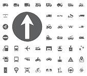 Traffic sign icon. Transport and Logistics set icons. Transportation set icons.