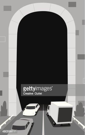 Traffic Tunnel : Vector Art