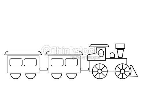 Train Coloring Book Vector Art   Thinkstock
