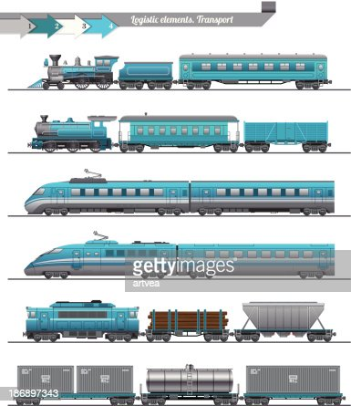 Trains Set Vector Art | Getty Images