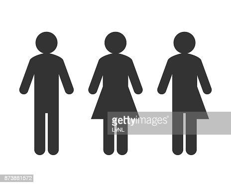 Transgender or unisex pictogram concept : stock vector