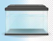 transparent aquarium vector illustration isolated on white background