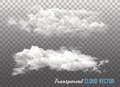 Transparent clouds. Vector.