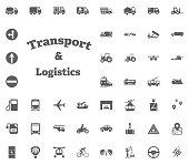 Transport and Logistics set icons. Transportation set icons