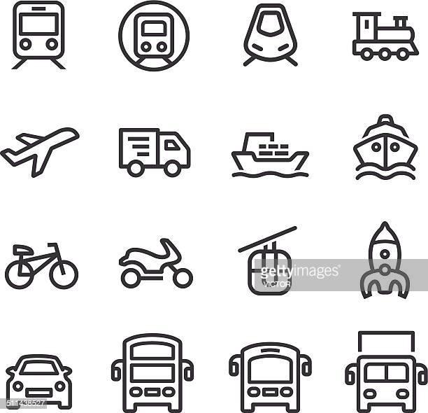 Serie de iconos de transporte