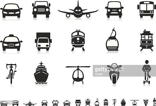 Transport icons | Pictoria series