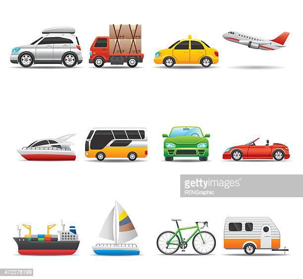 Transportation Icon Set   Elegant Series