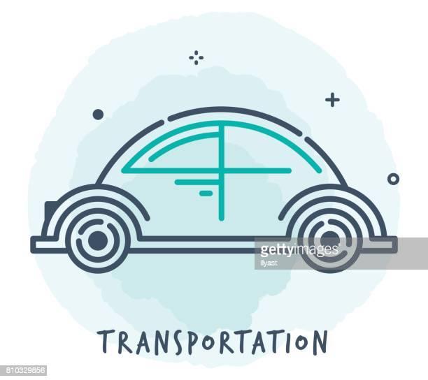Transportation Line Icon