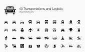 This is an amazing set of vehicle's icons. There are all kind of land, air, and sea transport in this set. Apart from that, I have included some logistic icons such as fork lift, boxes, and cart to fu