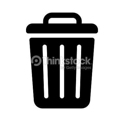 trash can,garbage can,rubbish bin icon : stock vector