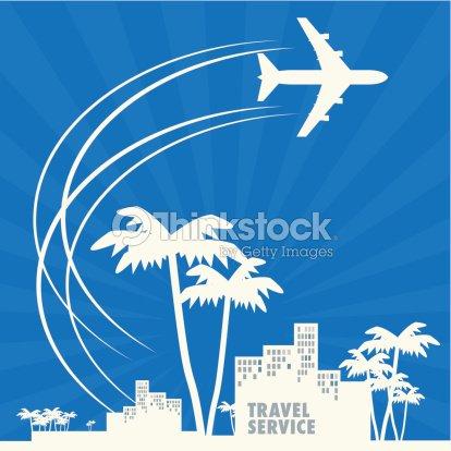 Travel Agency Background Vector Art