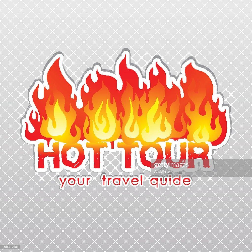 Reisebüro-tour burn label : Vektorgrafik