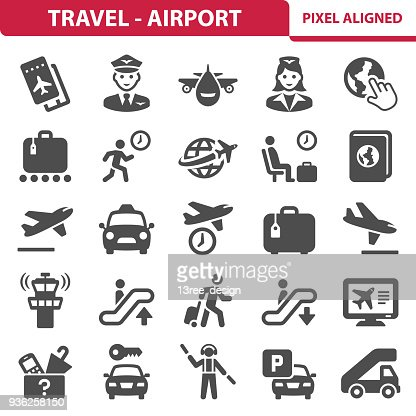 Travel - Airport Icons : Vector Art