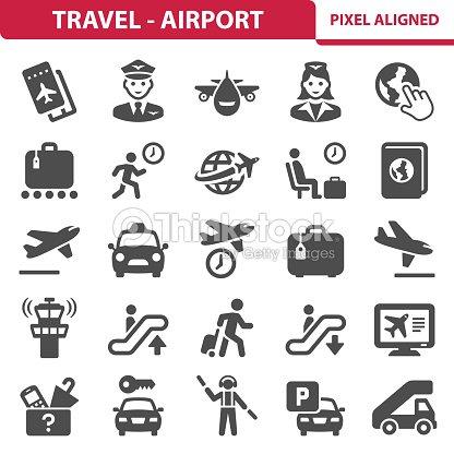 Travel - Airport Icons : arte vetorial