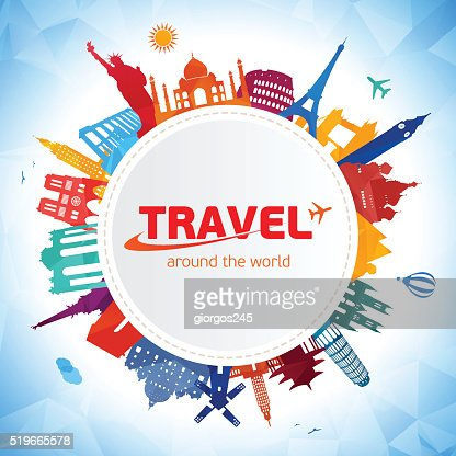 Travel and tourism background : Vector Art