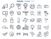 Travel and Tourism icons set flat design. vector illustration eps-10.