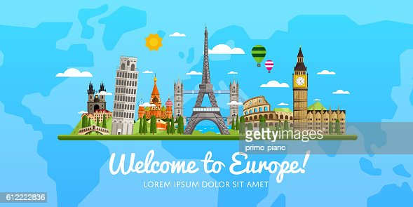 Travel and tourism vector illustration. : Vector Art