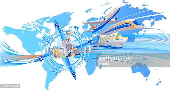 Travel around the world vector art getty images for Around the world cruise