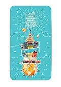 Element of World travel Vector Illustrations