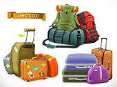 Travel. Bag, backpack, suitcase