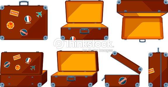 Travel case. Vector various views of travel case : stock vector