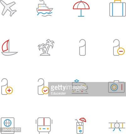 Color de los iconos de viajes 1 : Arte vectorial