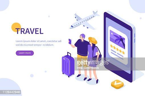 viajes concepto : arte vectorial