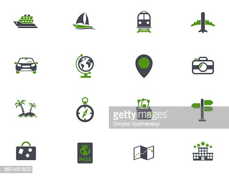 travel icon set : Vector Art