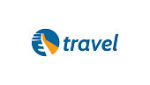 Touristic, ticket company icon.
