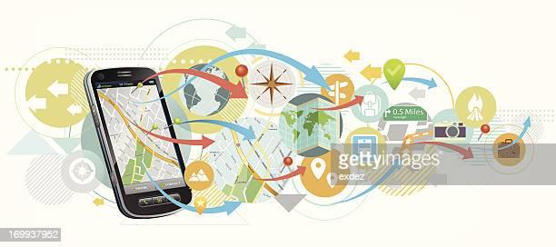 Carte de navigation par mobile