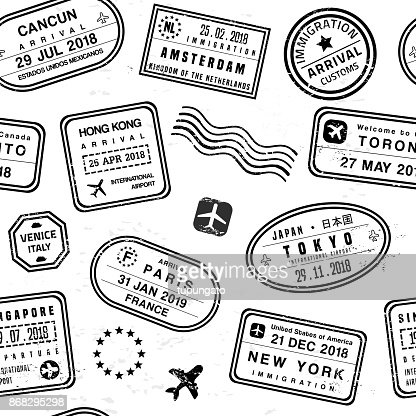 Travel stamps : Vector Art