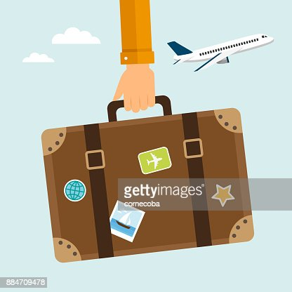 Travel suitcase : stock vector