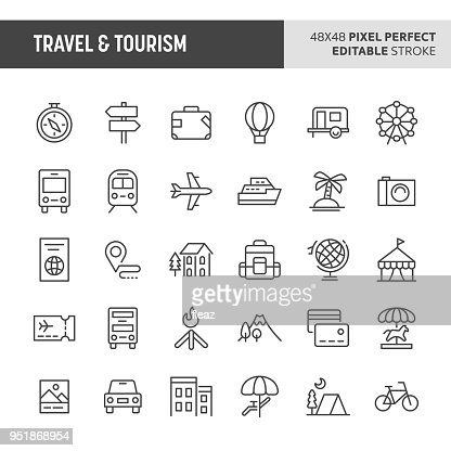 Travel & Tourism Vector Icon Set : Vector Art