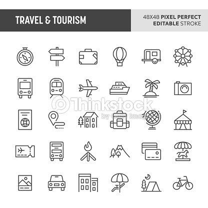 Travel & Tourism Vector Icon Set : arte vetorial