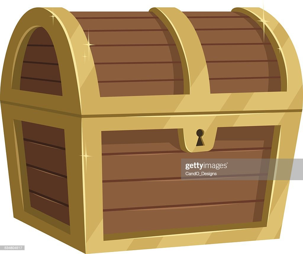 treasure chest cartoon vector art getty images