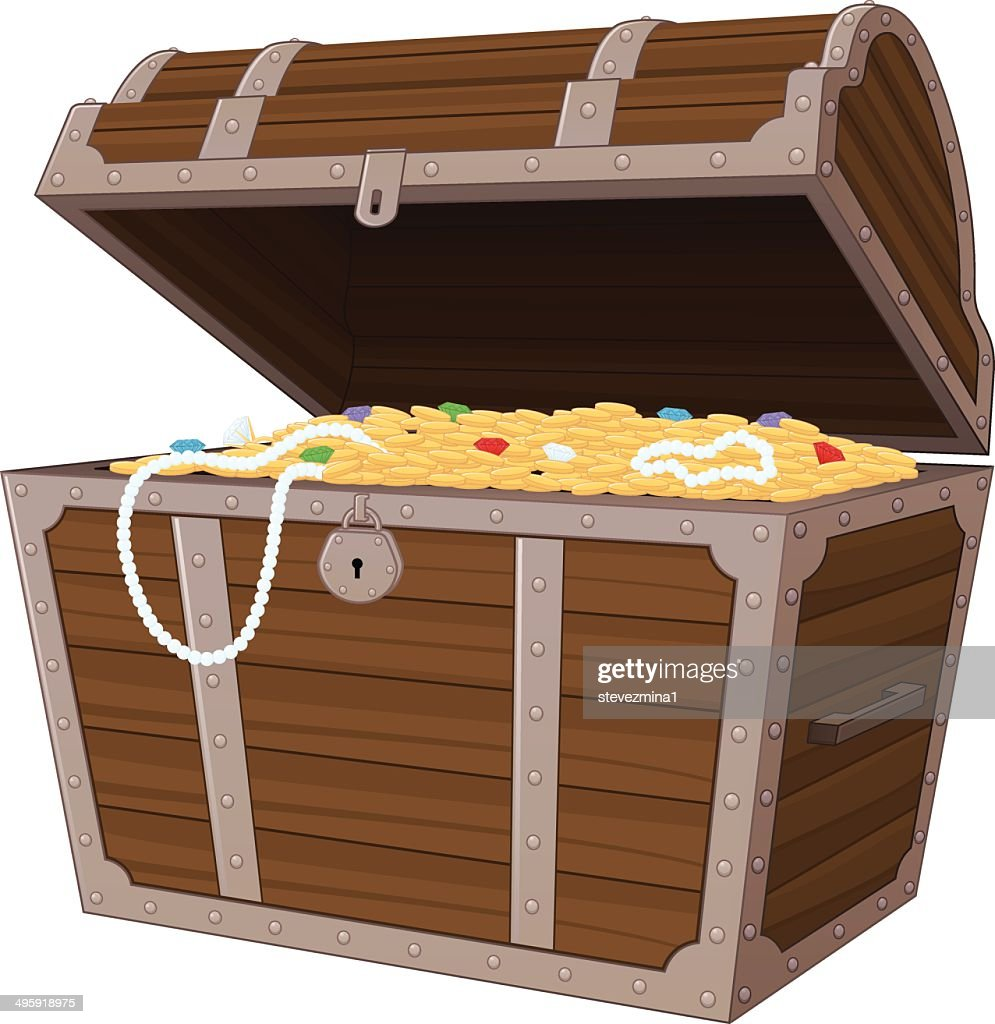 treasure chest vector art getty images