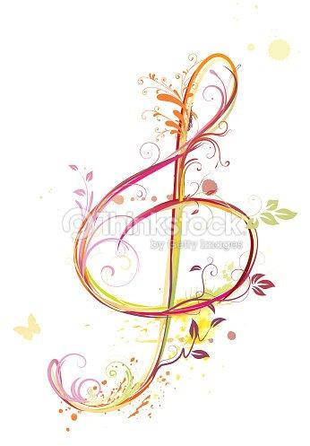 Chiave di violino arte vettoriale thinkstock - Immagini violino a colori ...