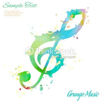 Chiave di violino acquerello arte vettoriale thinkstock - Immagini violino a colori ...