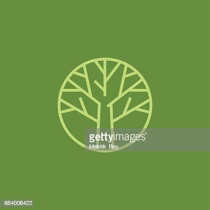 Plantilla de diseño de icono de rama de árbol : Arte vectorial