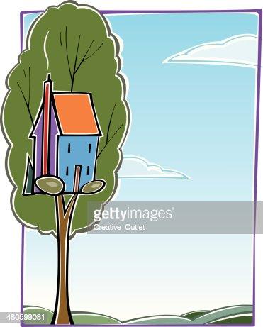 Tree House C : Vector Art