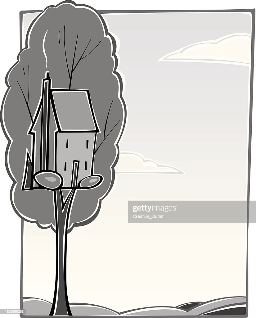Tree House : Vector Art
