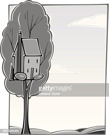 Tree House : Vector Art