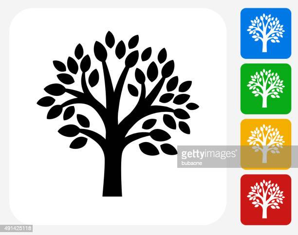 Tree Icon Flat Graphic Design