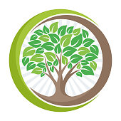 tree icon icon with the meaning of growing, developing, or managing the green environment.